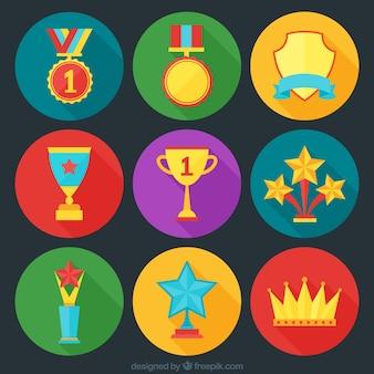 Récompenses icons set