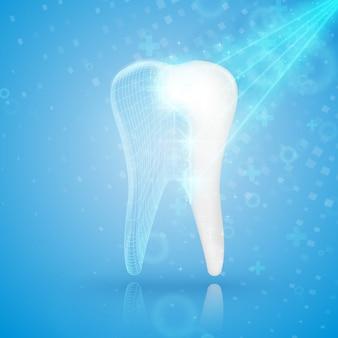 Reconstruction de la dent.