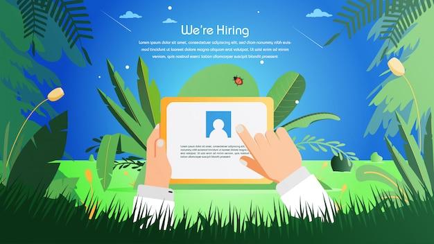 Recrutement en ligne d'embauche