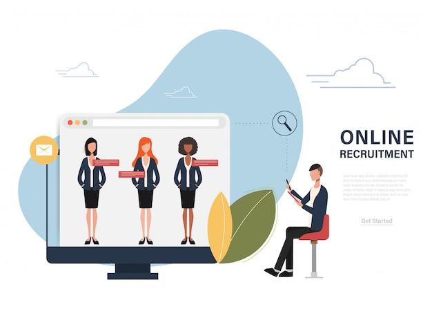Recrutement en ligne gestion des ressources humaines.