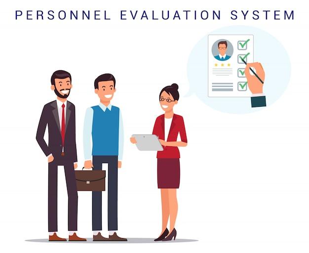 Recrutement. système d'évaluation du personnel. cv.