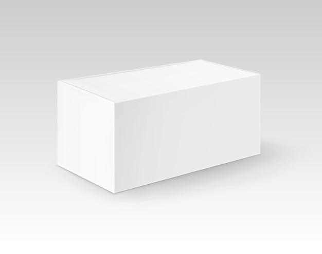 Le rectangle blanc blanc de carton emportent l'emballage de boîte pour le sandwich