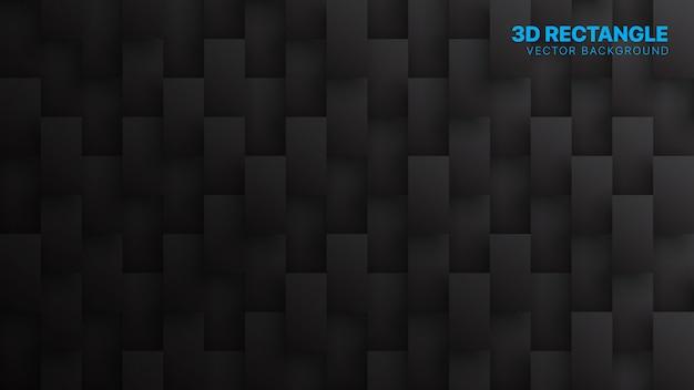 Rectangle blocs tech abstrait noir