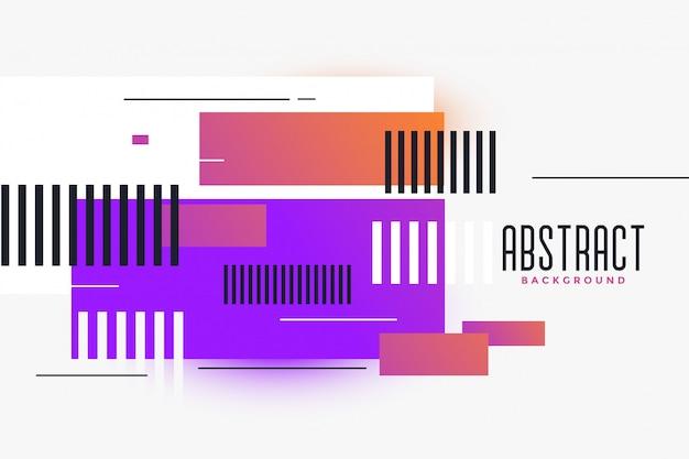 Les rectangles abstraits formes fond vibrant