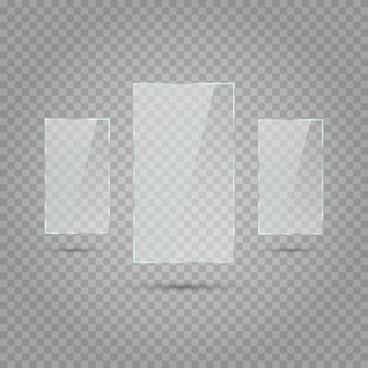 Rectangles avec transparence. transparence blanche.