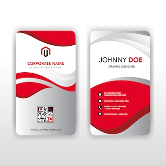 Recto et verso vertical business card.eps