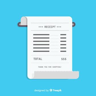 Reçu de paiement plat