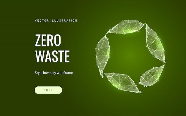 Recyclage des déchets low poly