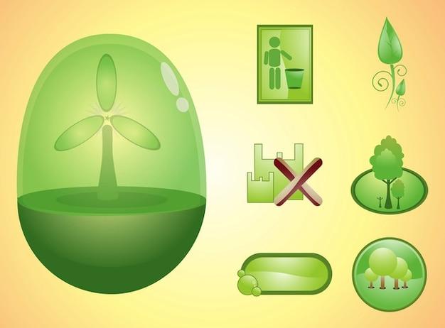Recyclage des icônes logos de l'environnement