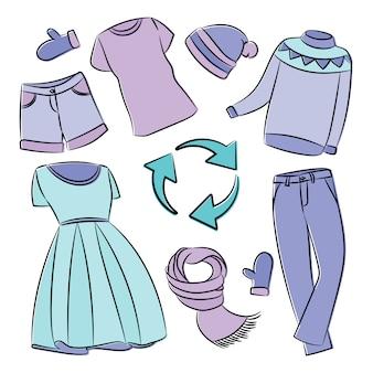 Recyclage des vêtements écologique mondial