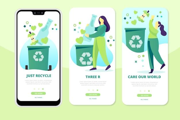 Recycler les écrans des applications sur le téléphone