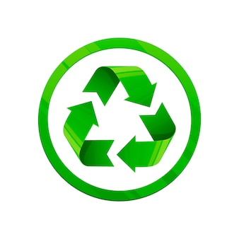 Recycler l'illustration verte.