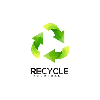 Recycler le logo illustration dégradé coloré