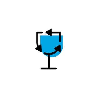 Recycler le modèle de logo en verre