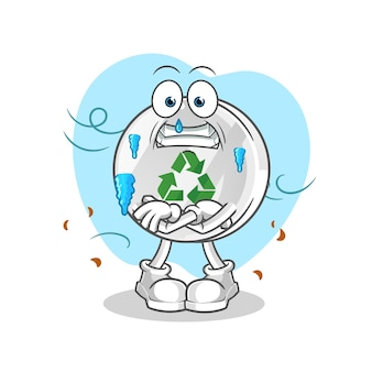 Recycler signe illustration froide