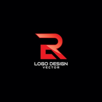 Red r symbole logo design