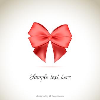 Red ribbon fond