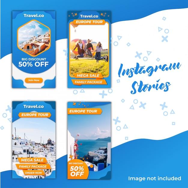 Réduction sur les voyages instagram stories