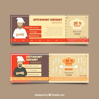 Réductions restaurant avec chefs