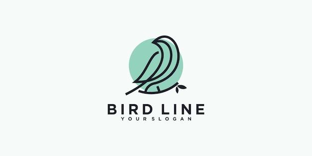 Référence du logo de la ligne d'oiseau pour les entreprises