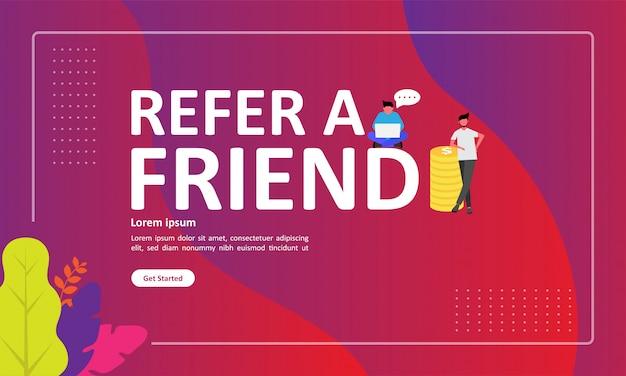 Référez-vous à un ami vector illustration