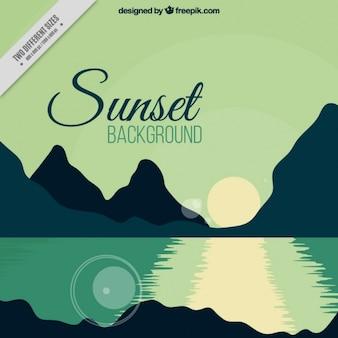 Reflet du soleil au coucher du soleil