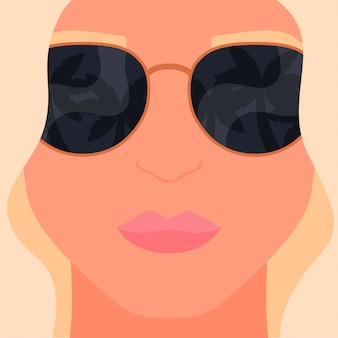 Réflexion sur l'illustration de l'été de lunettes de soleil