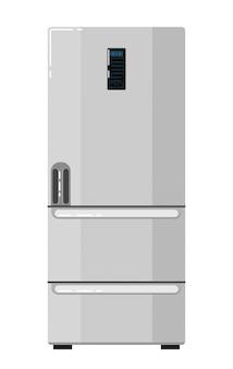 Réfrigérateur domestique isolé sur blanc