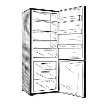 Réfrigérateurs isolés sur fond blanc.