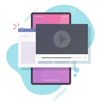 Regarder des vidéos en ligne sur téléphone mobile via internet internet