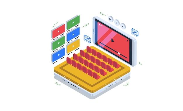 Regardez des vidéos en ligne, hébergez des vidéos et accédez à des films dans une salle de cinéma en ligne.