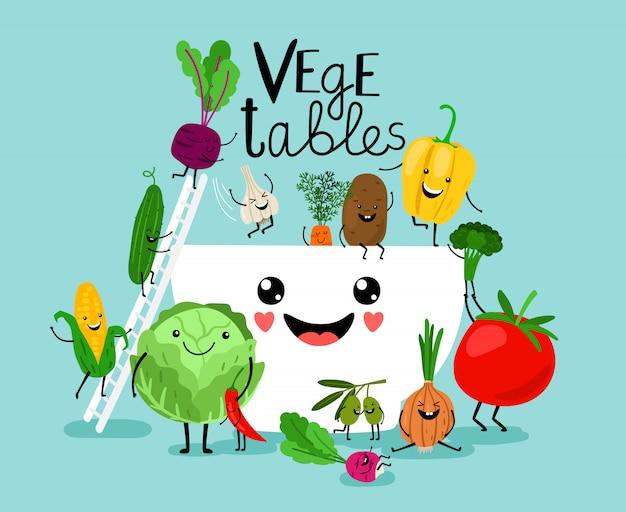 Régime de salade de légumes
