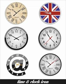Réglage de l'heure et de l'horloge