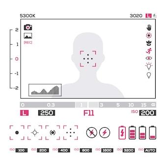 Réglages de l'appareil photo écran de conception