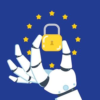 Règlement général sur la protection des données - gdpr. illustration vectorielle