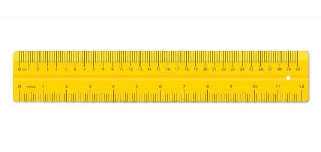 Règles colorées. fournitures d'outils de mesure.