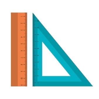 Règles scolaires approvisionnement icône vector illustration design