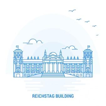Reichstag building point de repère bleu