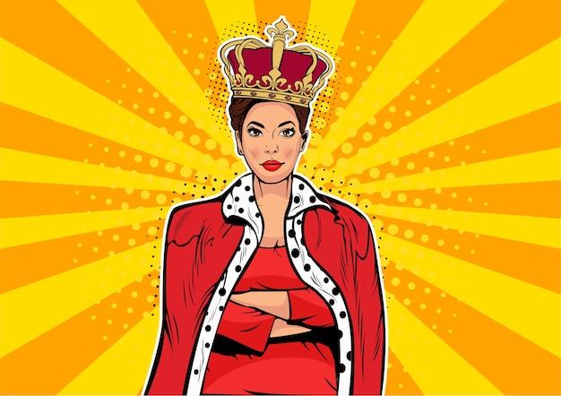 Reine des affaires pop art