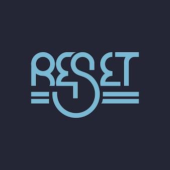 Réinitialiser la typographie du logo