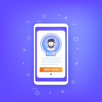 Rejoignez l'application mobile en direct