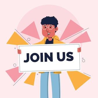 Rejoignez-nous message pour un emploi vacant