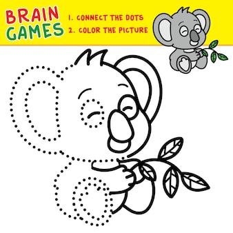 Relier les points page de coloriage activité cérébrale pour les enfants