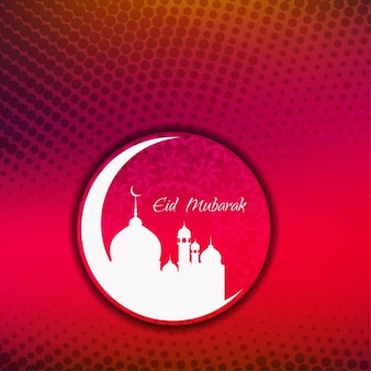 Religieux design fond eid mubarak