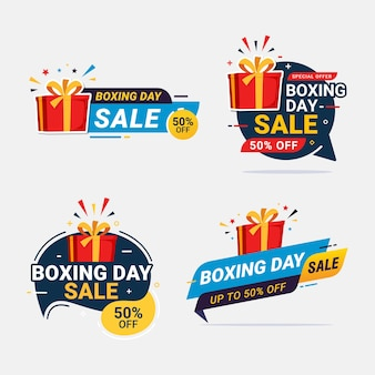 Remise de bannière de vente de boxe day