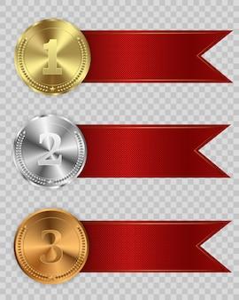 Remise des médailles isolés sur fond transparent.