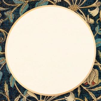Remix de cadres de fleurs de chèvrefeuille art nouveau à partir d'œuvres d'art de william morris