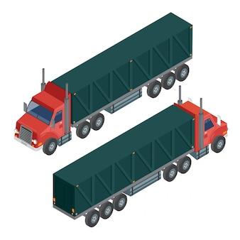 Remorque de camion de transport de fret. camion de livraison. transport logistique