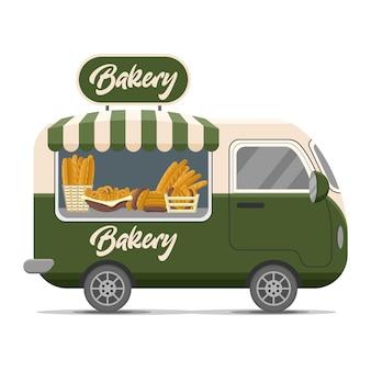 Remorque de caravane de rue de boulangerie