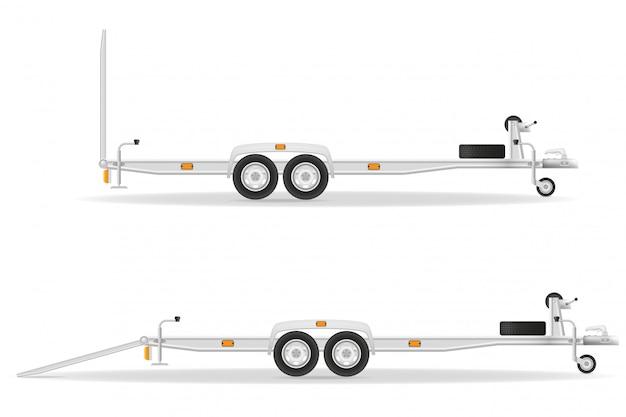 Remorque de voiture pour véhicules de transport